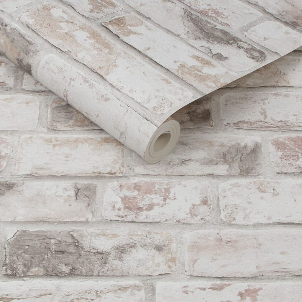 Distressed Brick Pastel Wallpaper, , wallpaperIT
