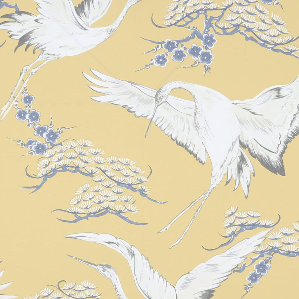Cranes Ochre Wallpaper, , wallpaperIT