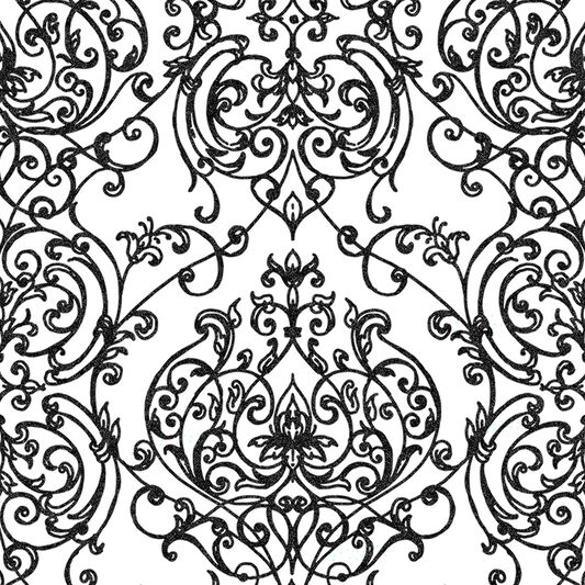Empress Damask Black & White Wallpaper, , wallpaperIT