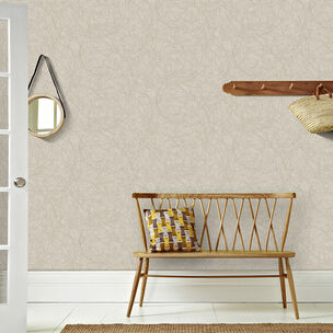 Twist Taupe and Silver Wallpaper, , wallpaperIT