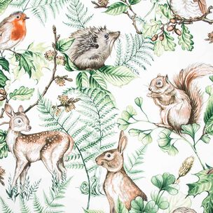 Woodland Animals Natural Wallpaper, , wallpaperIT