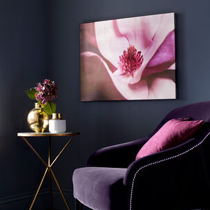 Metallic Plum Petals Printed Canvas Wall Art, , wallpaperIT