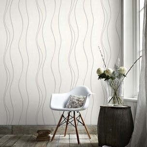 Elan White and Silver Wallpaper, , wallpaperIT