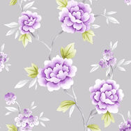 Chinese Blossom Grey and Purple Wallpaper, , wallpaperIT