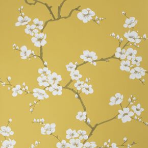 Apple Blossom Ochre Wallpaper, , wallpaperIT
