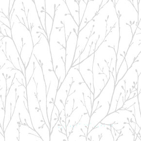 Willamena Silver & White Wallpaper, , wallpaperIT