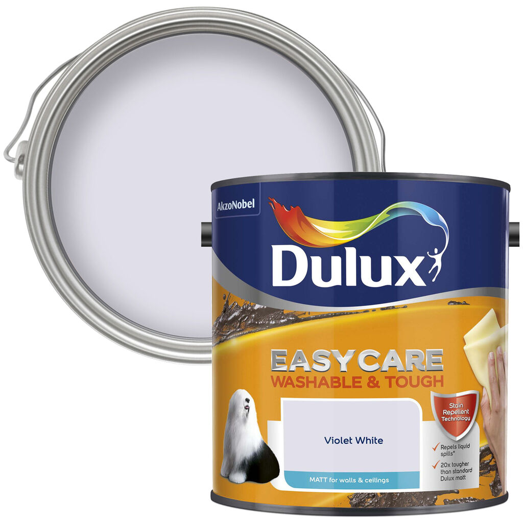 Dulux Easycare Matt 2.5L Violet White, , wallpaperIT
