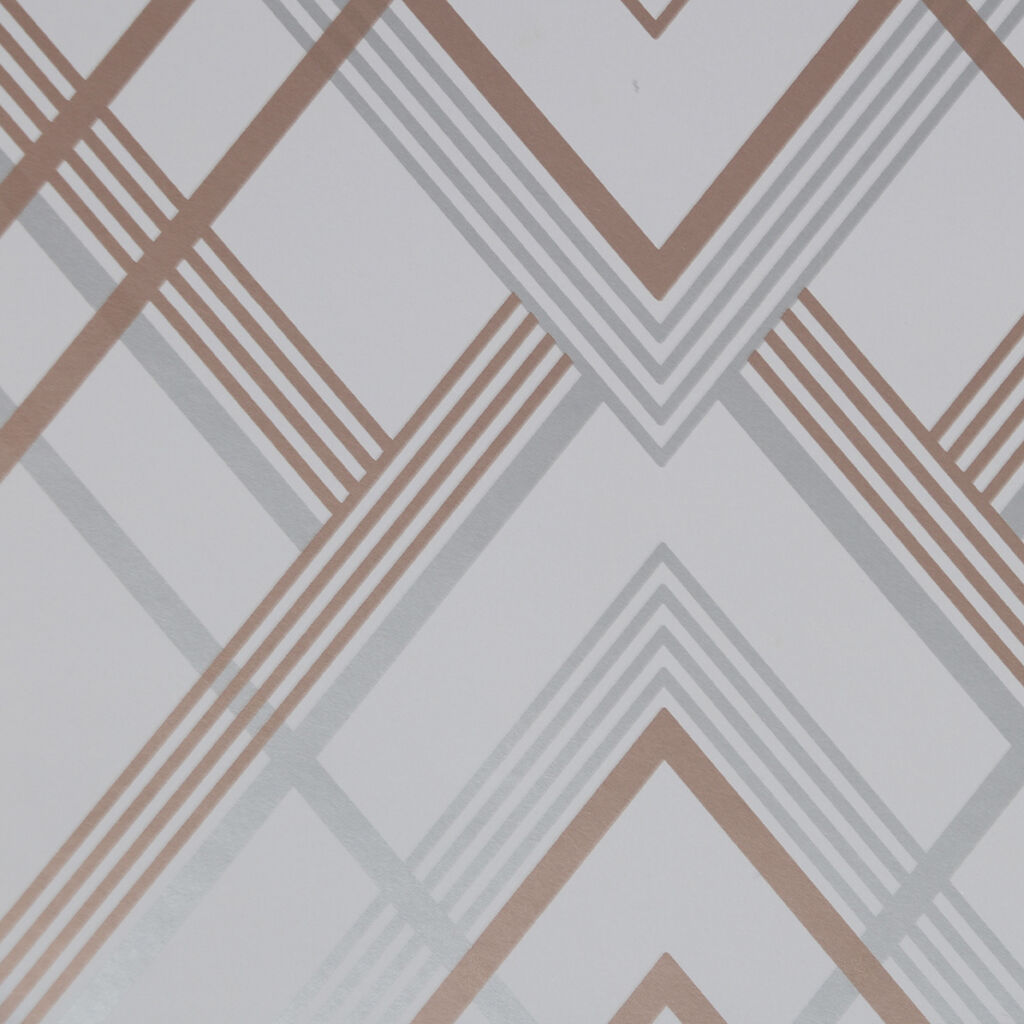 Ritz Grey & Rose Gold Wallpaper, , wallpaperIT