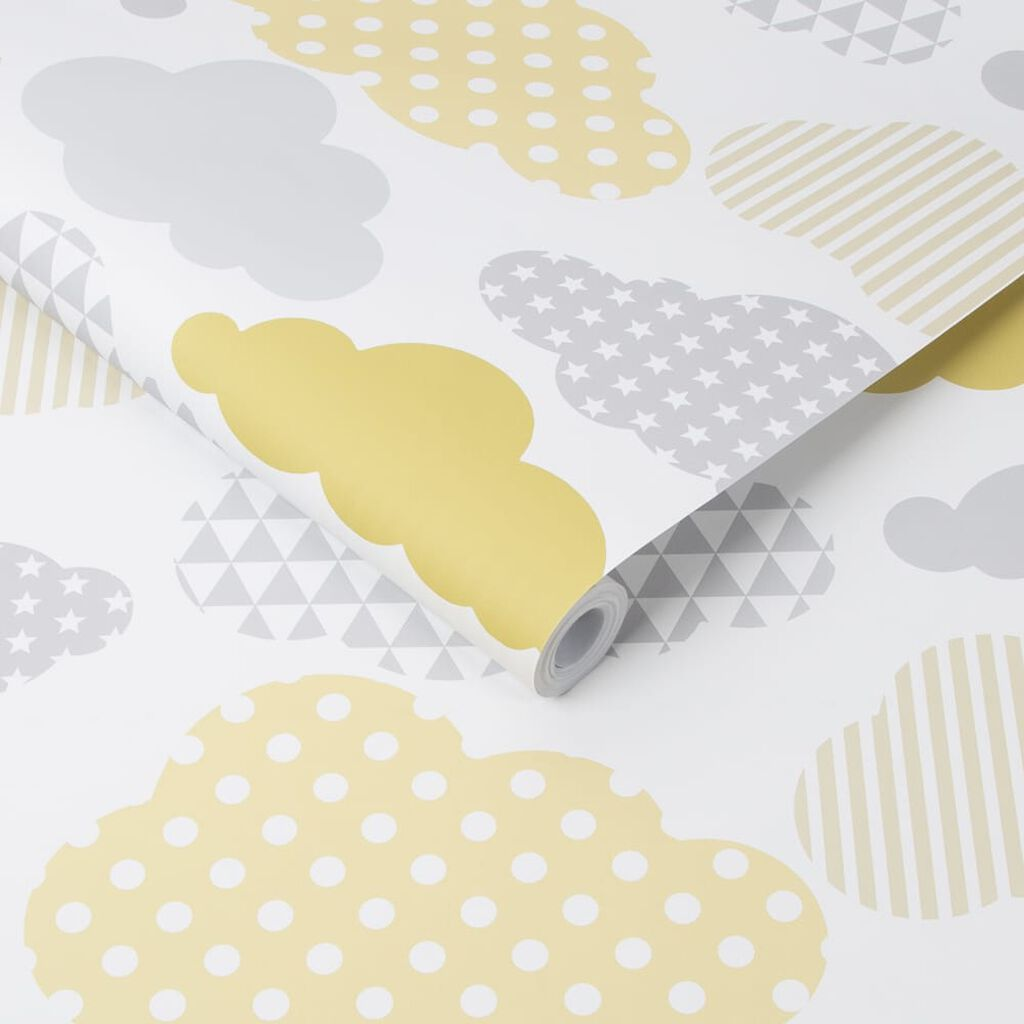 Clouds Yellow Grey Wallpaper, , wallpaperIT