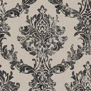 Opal Damask Charcoal and Gold Wallpaper, , wallpaperIT