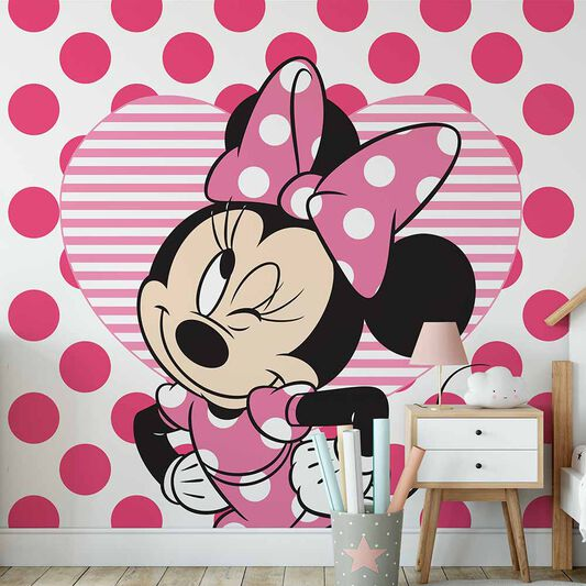 Minnie & Hearts Mural, , wallpaperIT