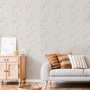 Apple Blossom Burnt Orange Wallpaper, , wallpaperIT