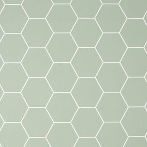 Honeycombe Green Wallpaper, , wallpaperIT