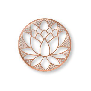 Copper Lotus Blossom Metal Wall Art, , wallpaperIT