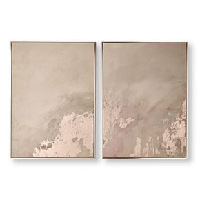 Rose Gold Serenity Framed Wall Art, , wallpaperIT