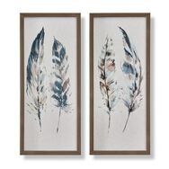 Painterly Feathers Framed Canvas, , wallpaperIT