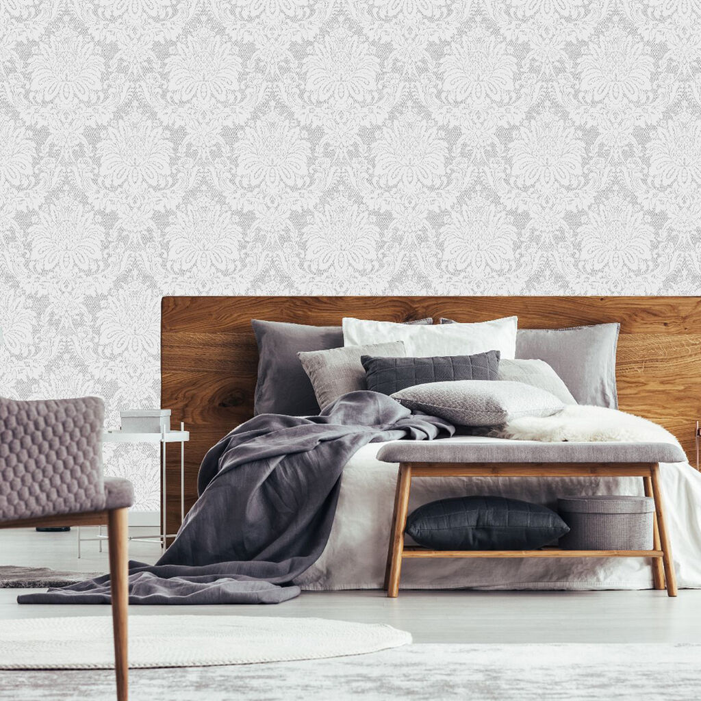 Vogue Dove Grey Wallpaper, , wallpaperIT