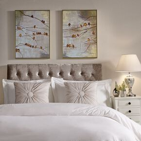 Flock Of Birds Handpainted Framed Canvas Wall Art, , wallpaperIT