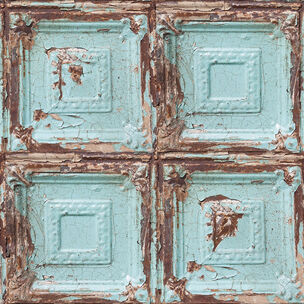 Mykonos Panel Blue Wallpaper, , wallpaperIT
