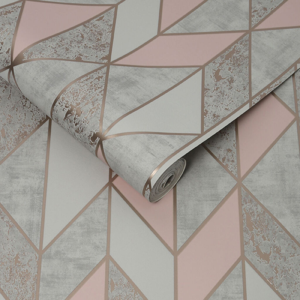 Milan Geo Blush Wallpaper, , wallpaperIT