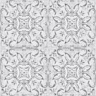 Contour Vintage Tin Tile White Wallpaper, , wallpaperIT