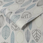Scandi Leaf Wallpaper