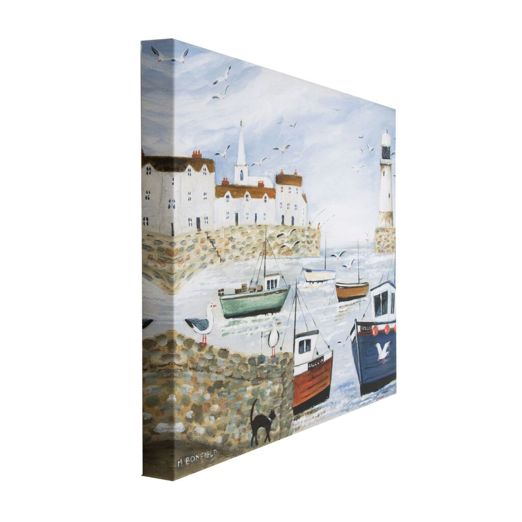 Harbourside Lighthouse Printed Canvas Wall Art, , wallpaperIT