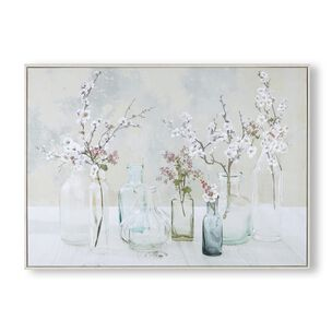 Apple Blossom Bottles Framed Canvas, , wallpaperIT