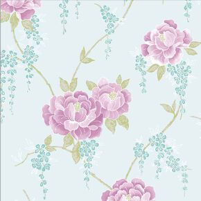 Elizabeth Rose & Duck Egg Wallpaper, , wallpaperIT
