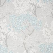 Fresco Lykke Tree Sky Blue Floral Wallpaper, , wallpaperIT