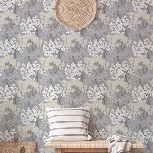 Fresco Lykke Tree Charcoal Floral Wallpaper, , wallpaperIT
