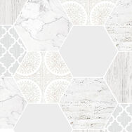 Hexagonal Marble Wallpaper, , wallpaperIT