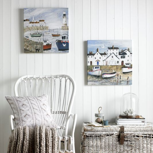 Harbourside Printed Canvas Wall Art, , wallpaperIT