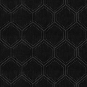 Hexagon Black Geometric Wallpaper, , wallpaperIT