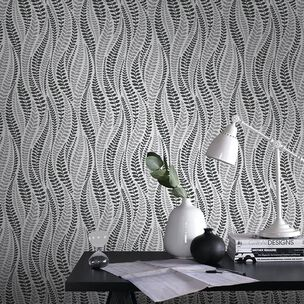 Geneva Black & Silver Wallpaper, , wallpaperIT