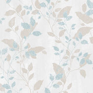Vermeil Leaf Duck Egg Wallpaper, , wallpaperIT