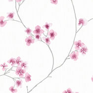 Radiance White and Pink Wallpaper, , wallpaperIT