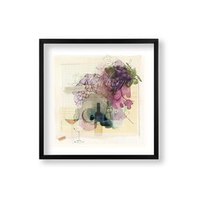 Wine O'Clock Framed Print, , wallpaperIT