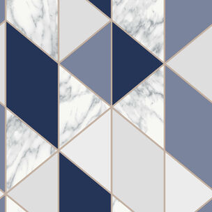 Marble Geo Navy Wallpaper, , wallpaperIT