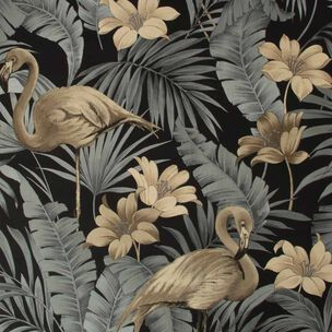 Sandrine Tropics Dark Wallpaper, , wallpaperIT