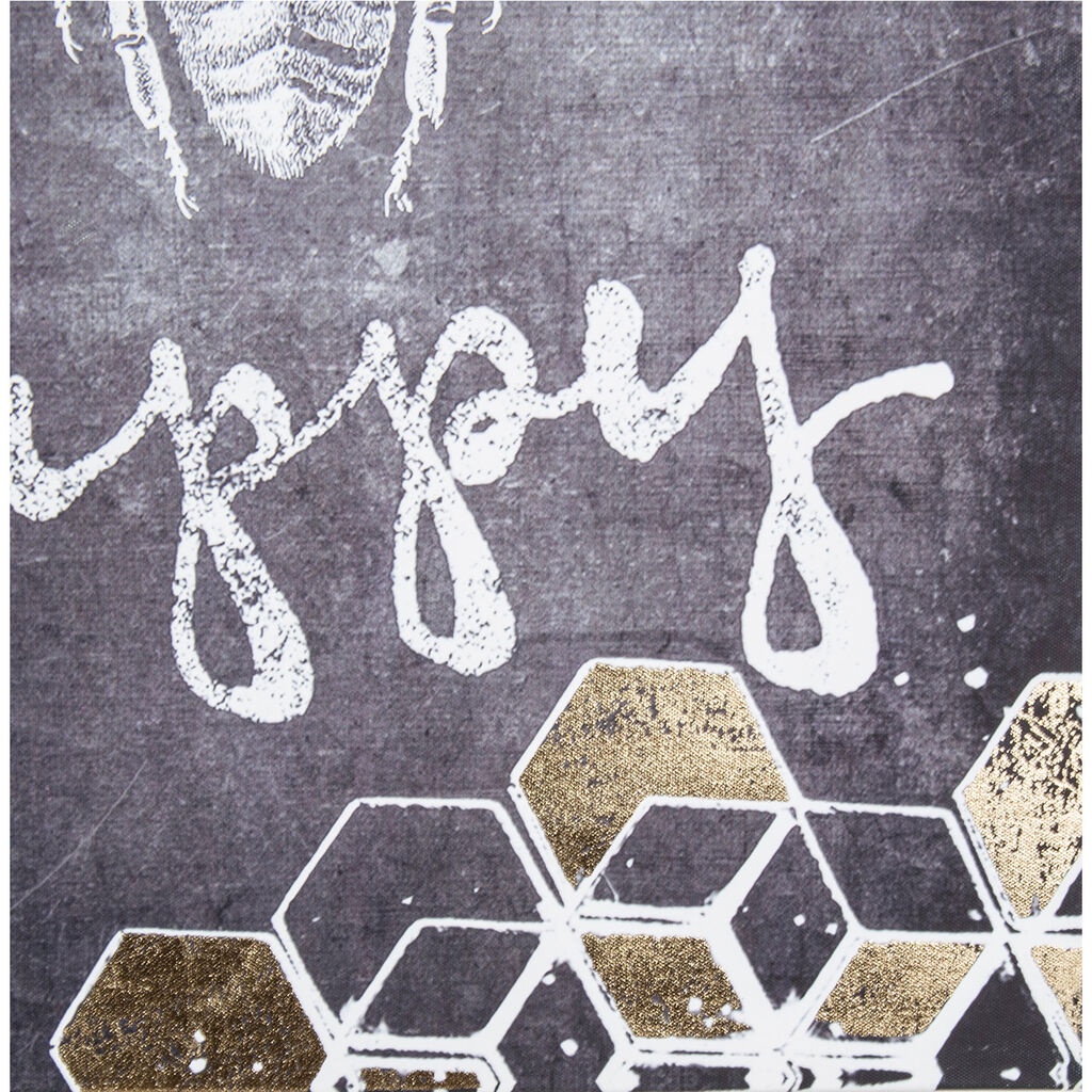 Bee Happy Printed Canvas Wall Art, , wallpaperIT