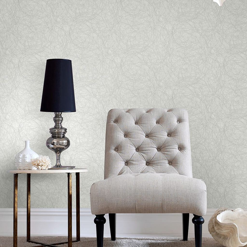 Twist White and Silver Wallpaper, , wallpaperIT
