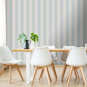 Water Silk Stripe Teal & Silver Wallpaper, , wallpaperIT