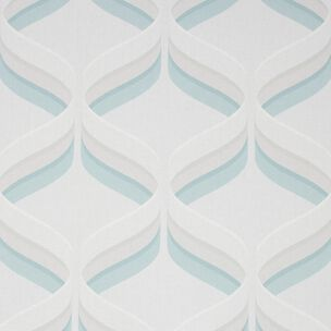 Fresco Retro Ogee Sky Blue Geometric Wallpaper, , wallpaperIT