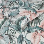 Leaves Exotique Light Grey Wallpaper