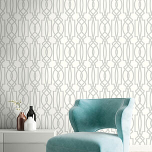 Transform Trellis Silver Wallpaper, , wallpaperIT