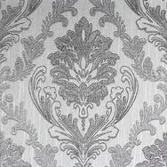 Corsetto Damask Dark Silver Wallpaper, , wallpaperIT