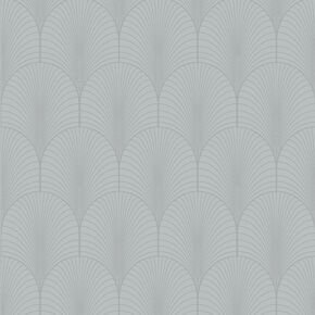 Josephine Grey Art Deco Wallpaper, , wallpaperIT