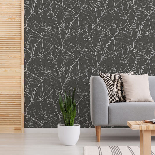 Transform Branches Charcoal Wallpaper, , wallpaperIT