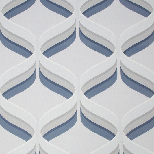 Fresco Retro Ogee Navy Geometric Wallpaper, , wallpaperIT